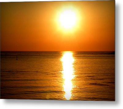 Metal Print featuring the photograph Aegean Sunset by Micki Findlay