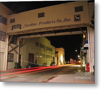 Metal Print featuring the photograph Aeneas Overpass On Cannery Row by James B Toy