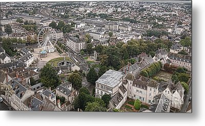 Aerial Chartres Metal Print by Olivier Le Queinec