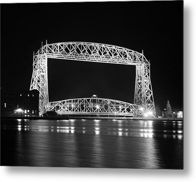 Aerial Lift Bridge Duluth Minnesota Metal Print by Heidi Hermes