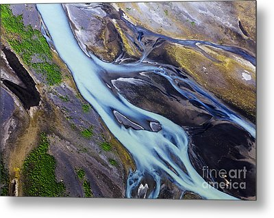Aerial Photo Of Iceland  Metal Print