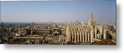 Aerial View Of A Cathedral In A City Metal Print