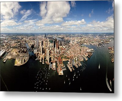 Aerial View Of A Cityscape, Boston Metal Print by Panoramic Images
