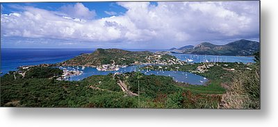 Aerial View Of A Harbor, English Metal Print