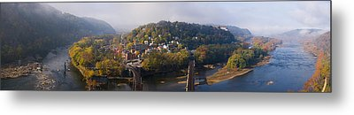 Aerial View Of An Island, Harpers Metal Print
