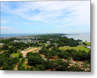 Aerial View Of Corolla North Carolina Outer Banks Obx Metal Print by Design Turnpike