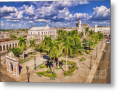 Aerial View Of Downtown Square Metal Print