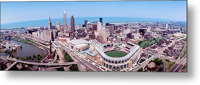 Aerial View Of Jacobs Field, Cleveland Metal Print by Panoramic Images