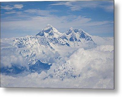 Aerial View Of Mount Everest Metal Print by Hitendra SINKAR