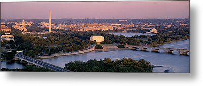 Aerial, Washington Dc, District Of Metal Print by Panoramic Images