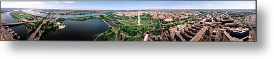 Aerial Washington Dc Usa Metal Print by Panoramic Images