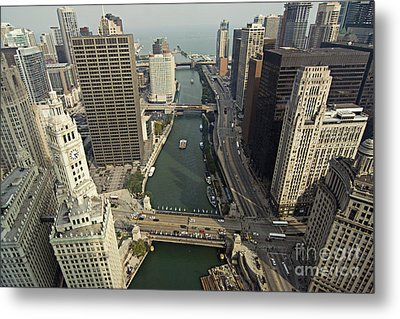 Aerial Chicago Skyscrapers Metal Print