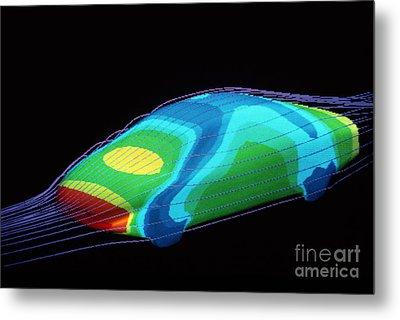 Aerodynamics In Car Design Metal Print