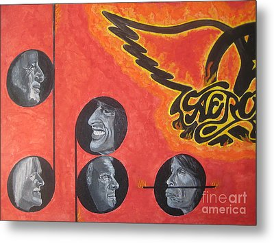 Metal Print featuring the painting Aerosmith Art Painting 40th Anniversary by Jeepee Aero