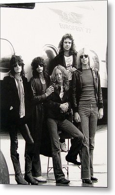 Aerosmith - Eurofest Jet 1977 Metal Print by Epic Rights