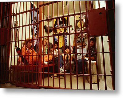 Aerosmith - In A Cage 1980s Metal Print by Epic Rights