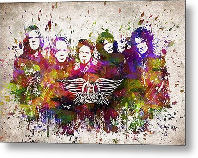 Aerosmith In Color Metal Print