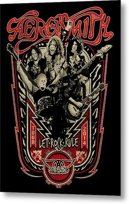 Aerosmith - Let Rock Rule World Tour Metal Print by Epic Rights