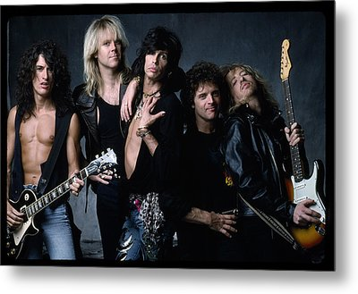Aerosmith - Let The Music Do The Talking 1980s Metal Print by Epic Rights