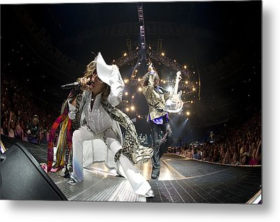Aerosmith - On Stage 2012 Metal Print by Epic Rights