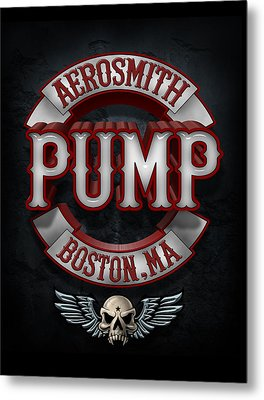 Aerosmith - Pump Metal Print by Epic Rights