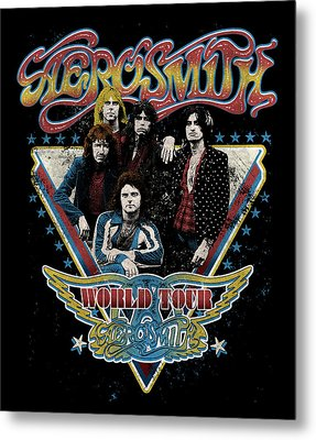 Aerosmith - World Tour 1977 Metal Print by Epic Rights