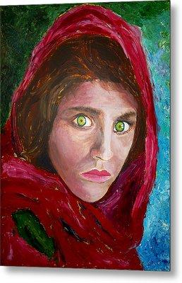 Afghan Girl Painting Metal Print