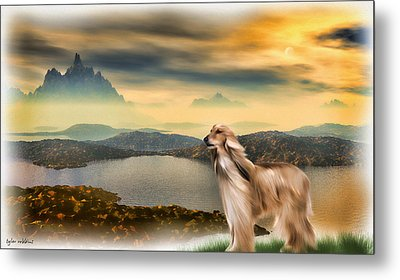 Metal Print featuring the painting Afghan Hound by Tyler Robbins