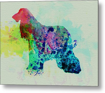 Afghan Hound Watercolor Metal Print
