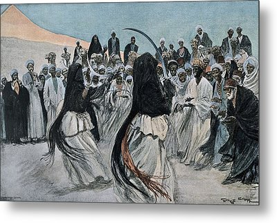 Africa 1901. The Dance Of The Sabre Metal Print by Everett