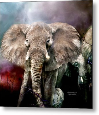 Africa - Protection Metal Print by Carol Cavalaris