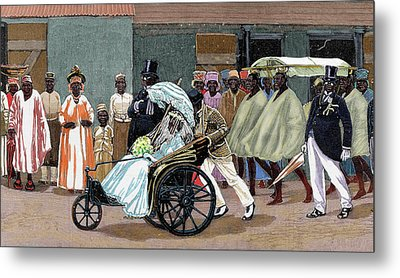 Africa Sierra Leone Bride Of The High Metal Print by Prisma Archivo