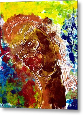 African Alpha Female Metal Print by Cleaster Cotton