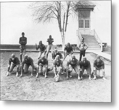 African American Football Team Metal Print by Underwood Archives