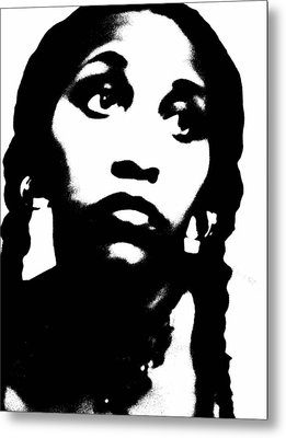 Metal Print featuring the photograph African American Girl P7292079 by Cleaster Cotton