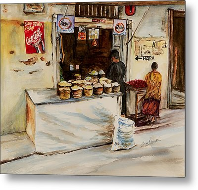 African Corner Store Metal Print by Sher Nasser