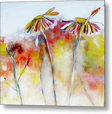African Daisy Abstract Metal Print