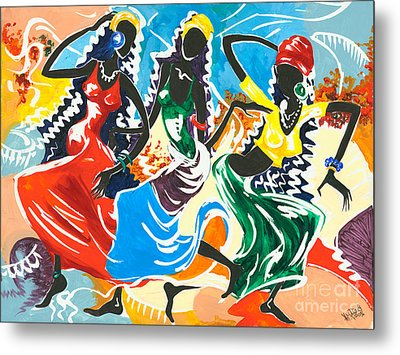 African Dancers No. 2 Metal Print