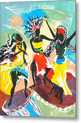 African Dancers No. 4 Metal Print