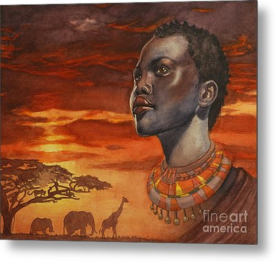 African Dream Metal Print by Isabella Kung
