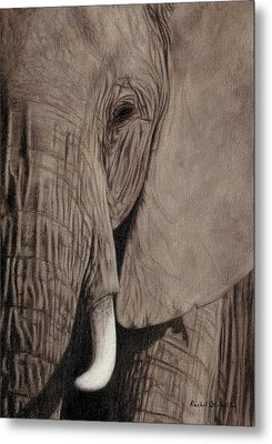 African Elephant Painting Metal Print