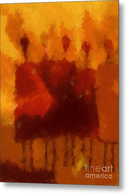 African Impression Metal Print by Lutz Baar