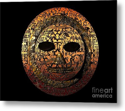Metal Print featuring the digital art African Mask Series 1 by Jacqueline Lloyd