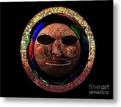 Metal Print featuring the digital art African Mask Series 2 by Jacqueline Lloyd