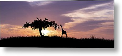 African Sunset Metal Print by Aged Pixel