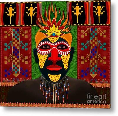 African Tribesman 1 Metal Print by Bedros Awak