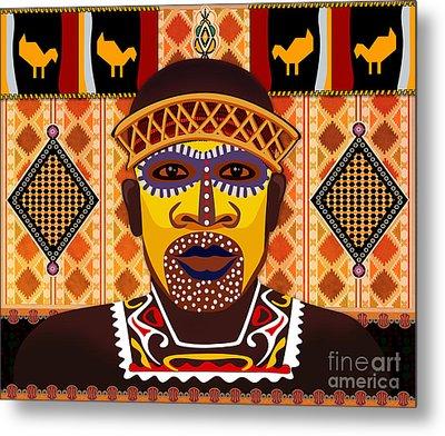 African Tribesman 2 Metal Print by Peter Awax