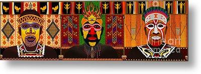 African Tribesmen Metal Print by Bedros Awak