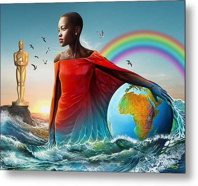 The Lupita Tsunami Metal Print by Anthony Mwangi