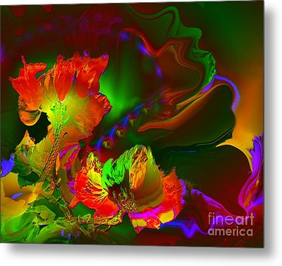 African Tulips Metal Print by Doris Wood